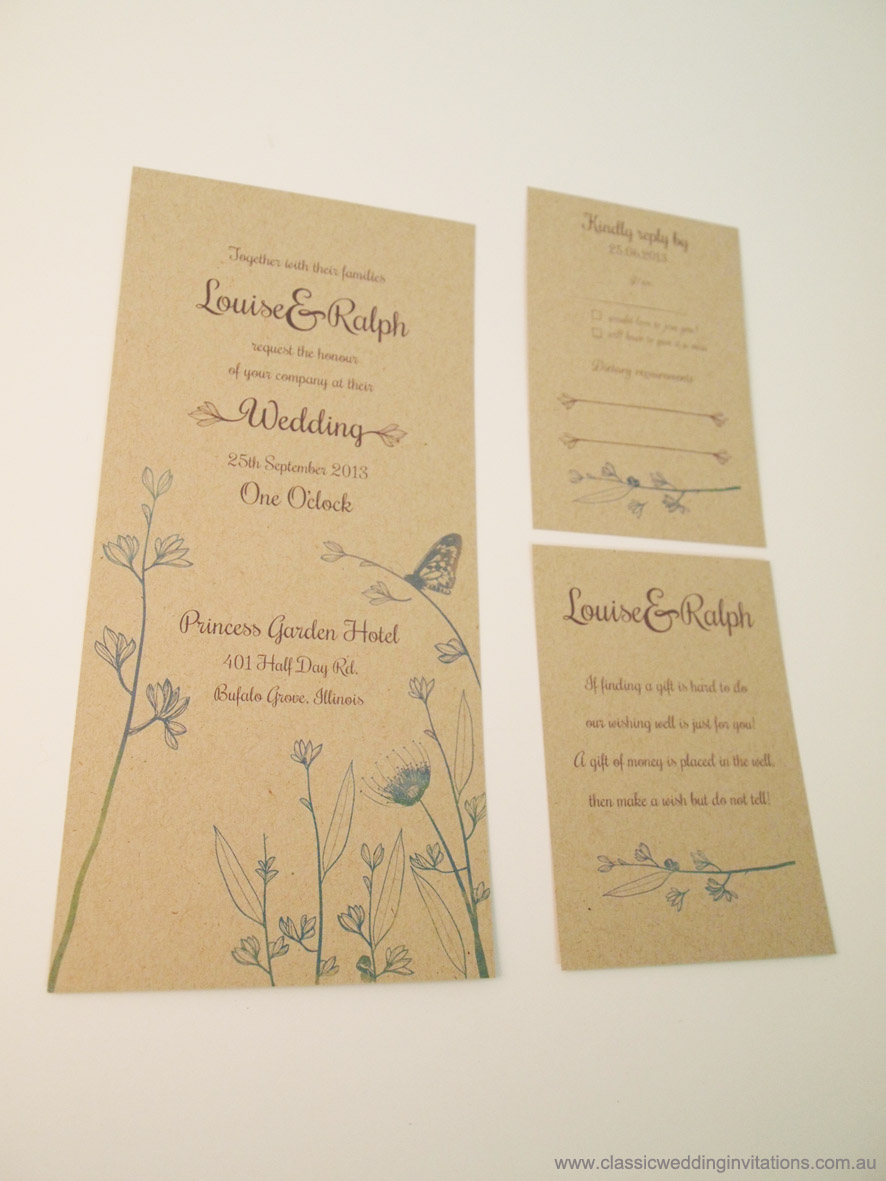 Classic Wedding Invitations - New Tri-Fold Design: Victorian-Era ...