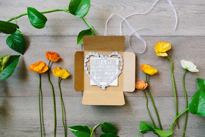 wedding invite poppies