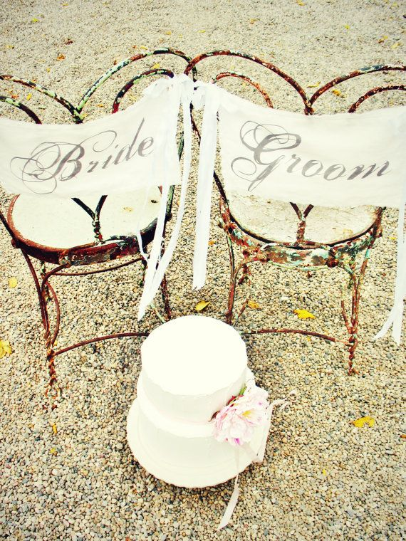 bride and groom banner