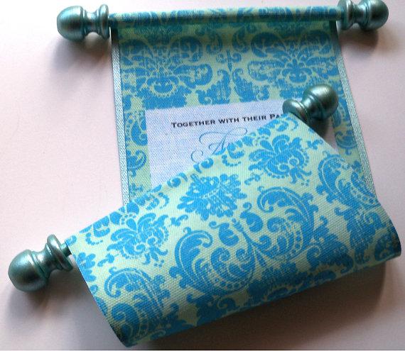 fabric weddding invitation
