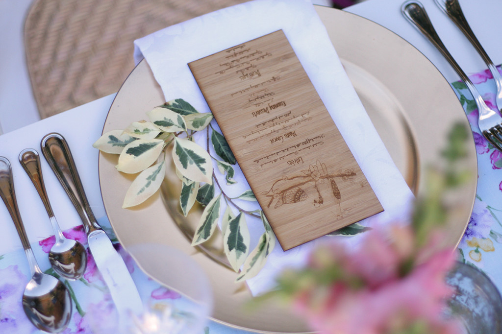 bamboo wedding menu