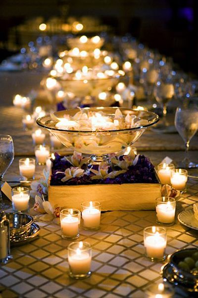 bridal guide tealight wedding lighting