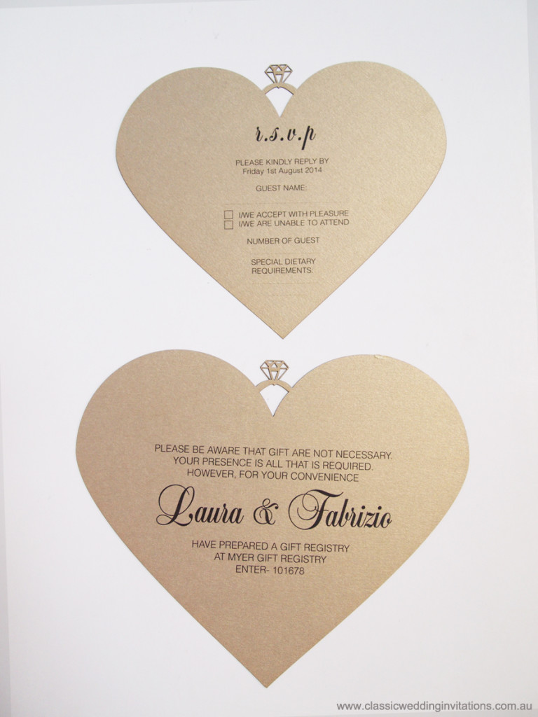 love heart invite