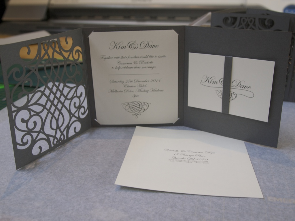 unique wedding invitation