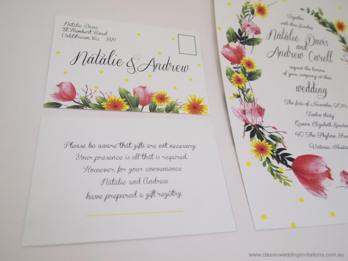 Classic Wedding Invitations - Springtime Splendour- floral wedding ...