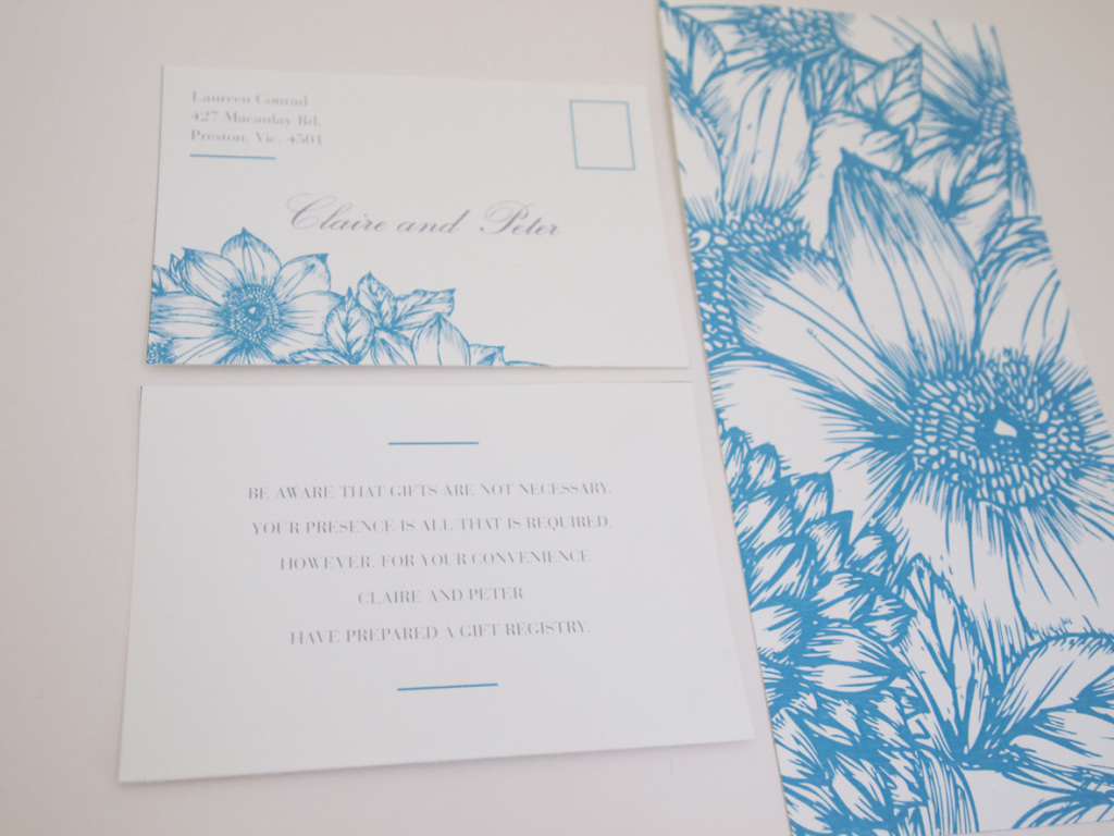 Summer botanicals wedding card