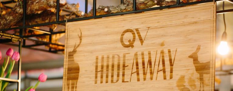 QV Hideaway- laser engraving on wood