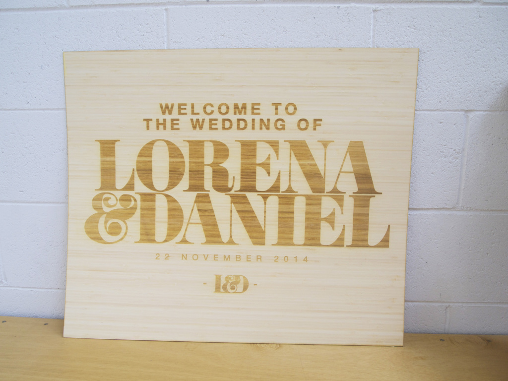 Design your custom wedding signs