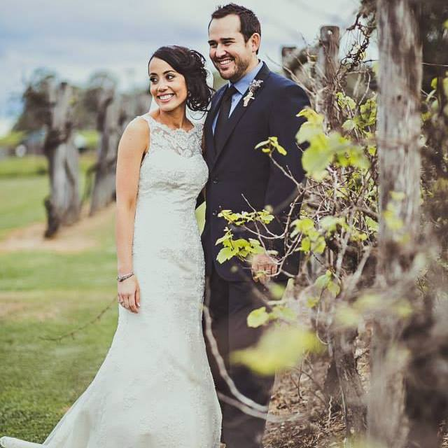 cassandra and ryan wedding. couple