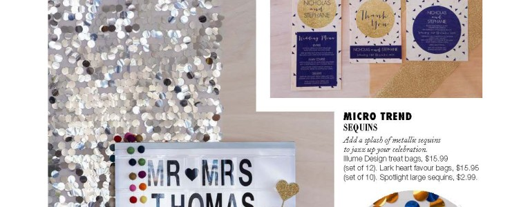 Art Deco Glamour wedding invitations featured in Bride Magazine