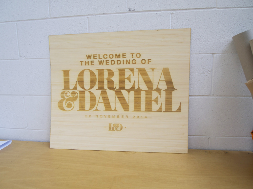 Order custom made wedding signs